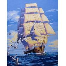 Cuadro en la pared barcos llanura vela regalo abstracto pintura al óleo de dibujo by números diy coloración by números lienzo decoración del hogar