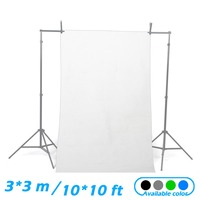 NEW 10 10ft 3 3M Solid White Seamless Muslin Photography Backdrop Background
