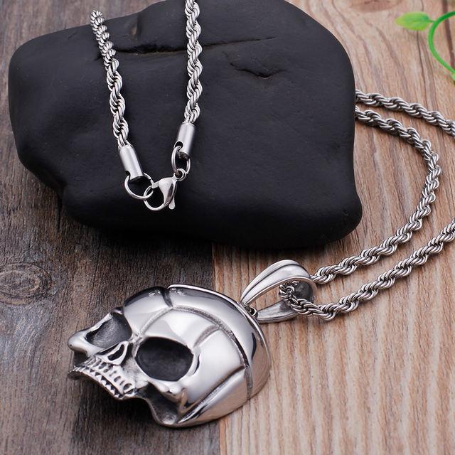 STAINLESS STEEL SKULL FACE NECKLACES