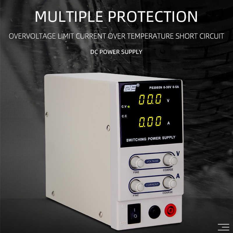 Laboratoire d'alimentation réglable variable 30v 5A régulateur de tension 220 v EU banc alimentation régulée source 30 V commutateur