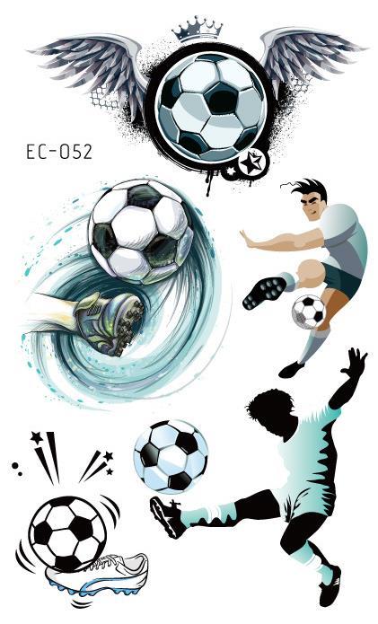 Waterproof Temporary Tatoo Fake Tattoo Sticker Soccer Football Fan Wings Tatouage Tatto Hand Foot Tattoos For Kids Boy Women Men
