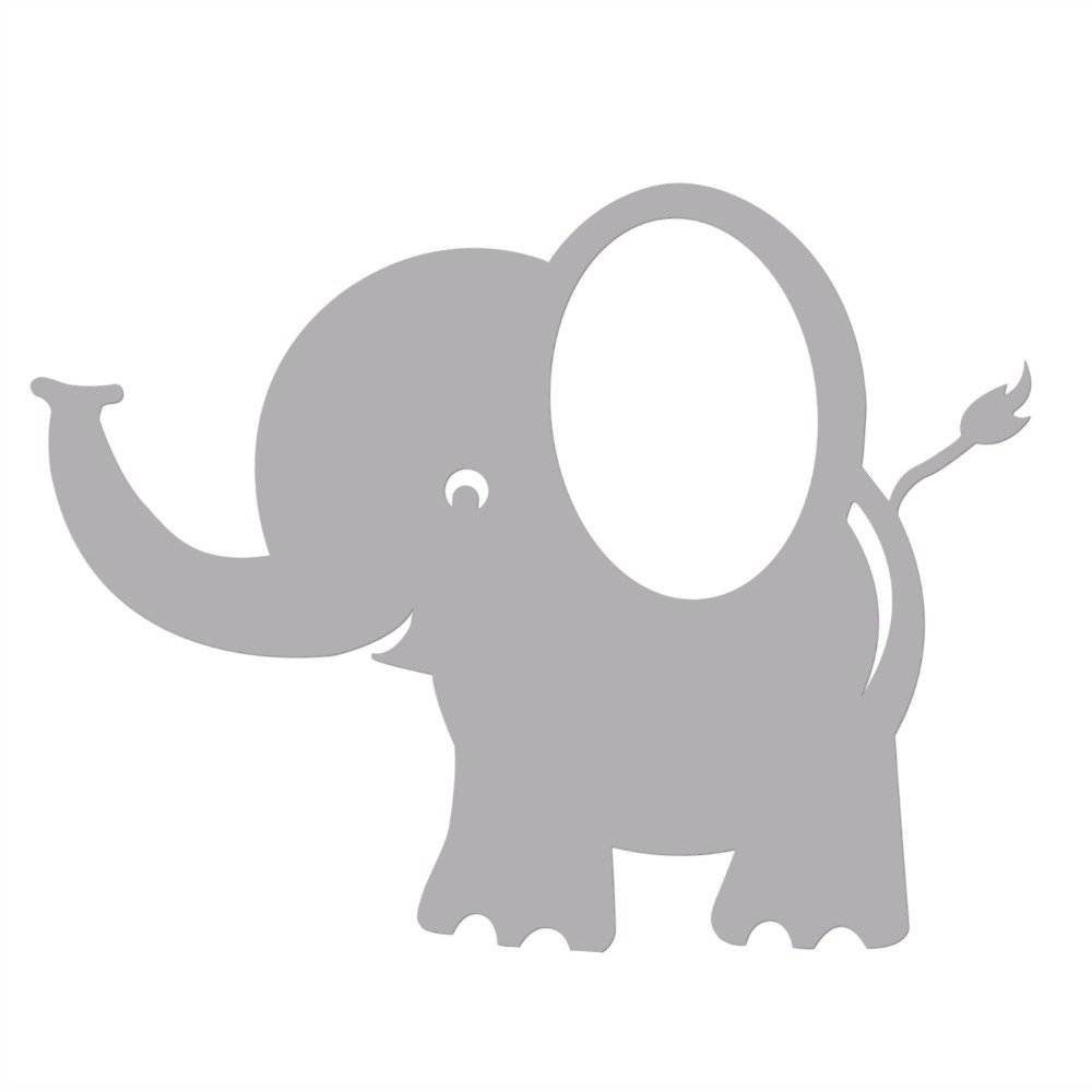 Bobee Baby Elephant Wall Decals For Kids Room Decor Nursery Sticker Light Grey 5 Pack Small In Stickers From Home Garden On Aliexpress