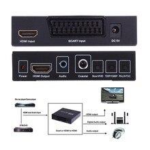 Scart hdmi zu hdmi konverter volle hd 1080 p digital high Definition Video Konverter UNS Netzstecker Adapter Für HDTV HD L3EF