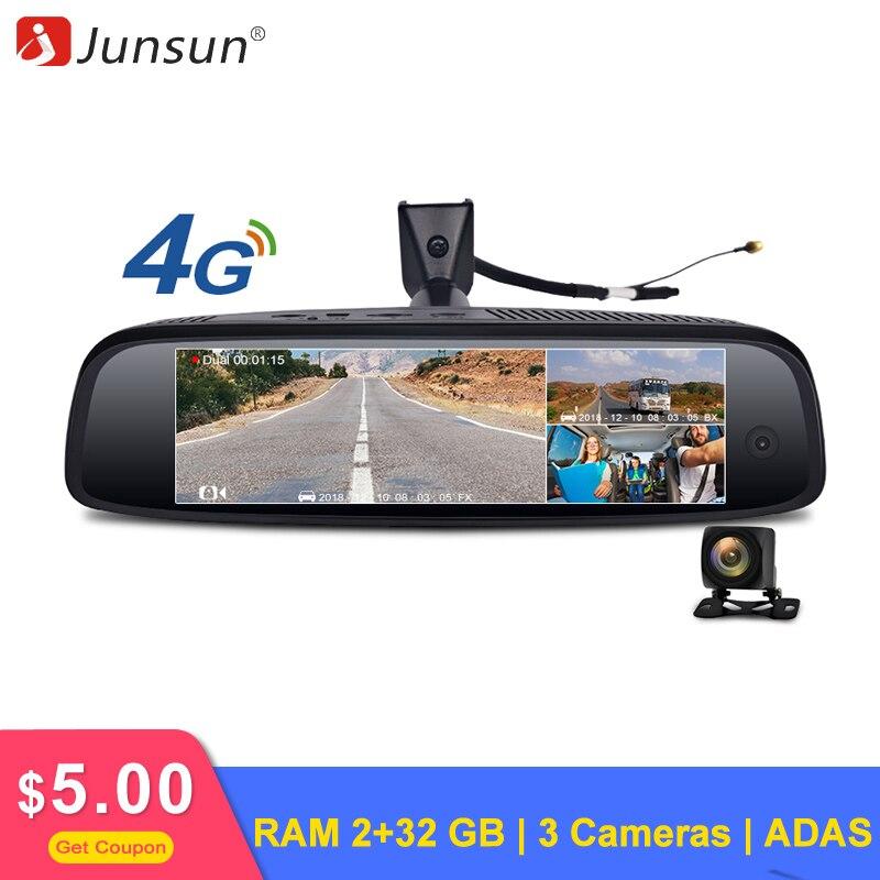 Junsun K757 Car DVR Camera Ram 2 32GB ADAS Dash Cam 4G FHD 1080p GPS Navi