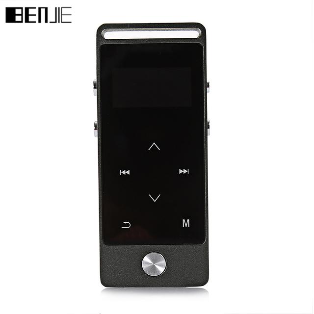 Benjie s5 metal de pantalla táctil reproductor de mp3 ape/flac/wav de alta calidad 8 gb de nivel de entrada de sonido sin pérdidas de alta fidelidad reproductor de música con fm