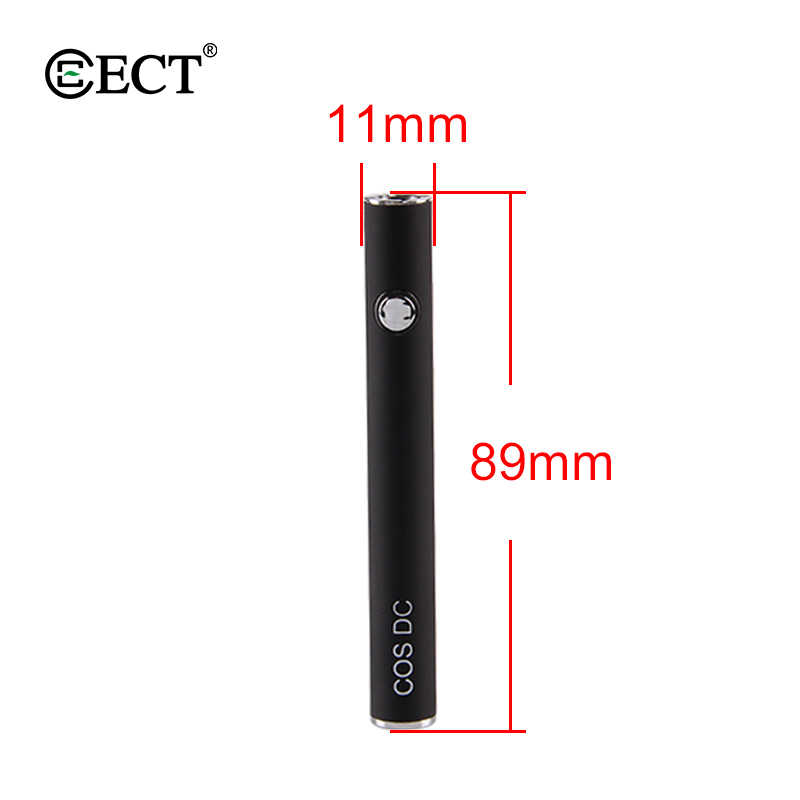 Vape Mod оригинальный ECT COS DC подогрева VV батарея поле 450 мАч USB зарядка для 510 Резьбовая электронная сигарета моды