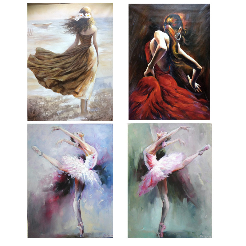 Beautiful Woman Oil Painting Modern Canvas Wall Art Painting for Living Room Home Decor Hand Painted Figurative High Quality
