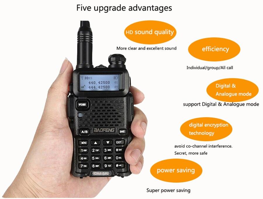 US $107 45 34% OFF|2pcs Newest Walkie Talkie Upgraded Baofeng Dm 5r Dmr  Digital Radio Encryption Vhf Uhf Mobile Dual Band Cb Radio Hf  Transceiver-in