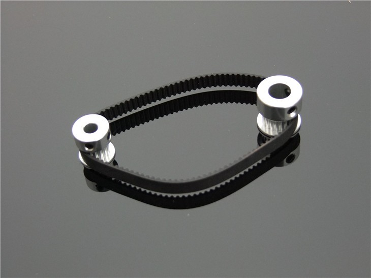 Fine Quality Black Rubber 2GT-6 232mm Perimeter Timing Belt 6mm Width Closed Loop Synchronous Belt Transmission Accessories 4