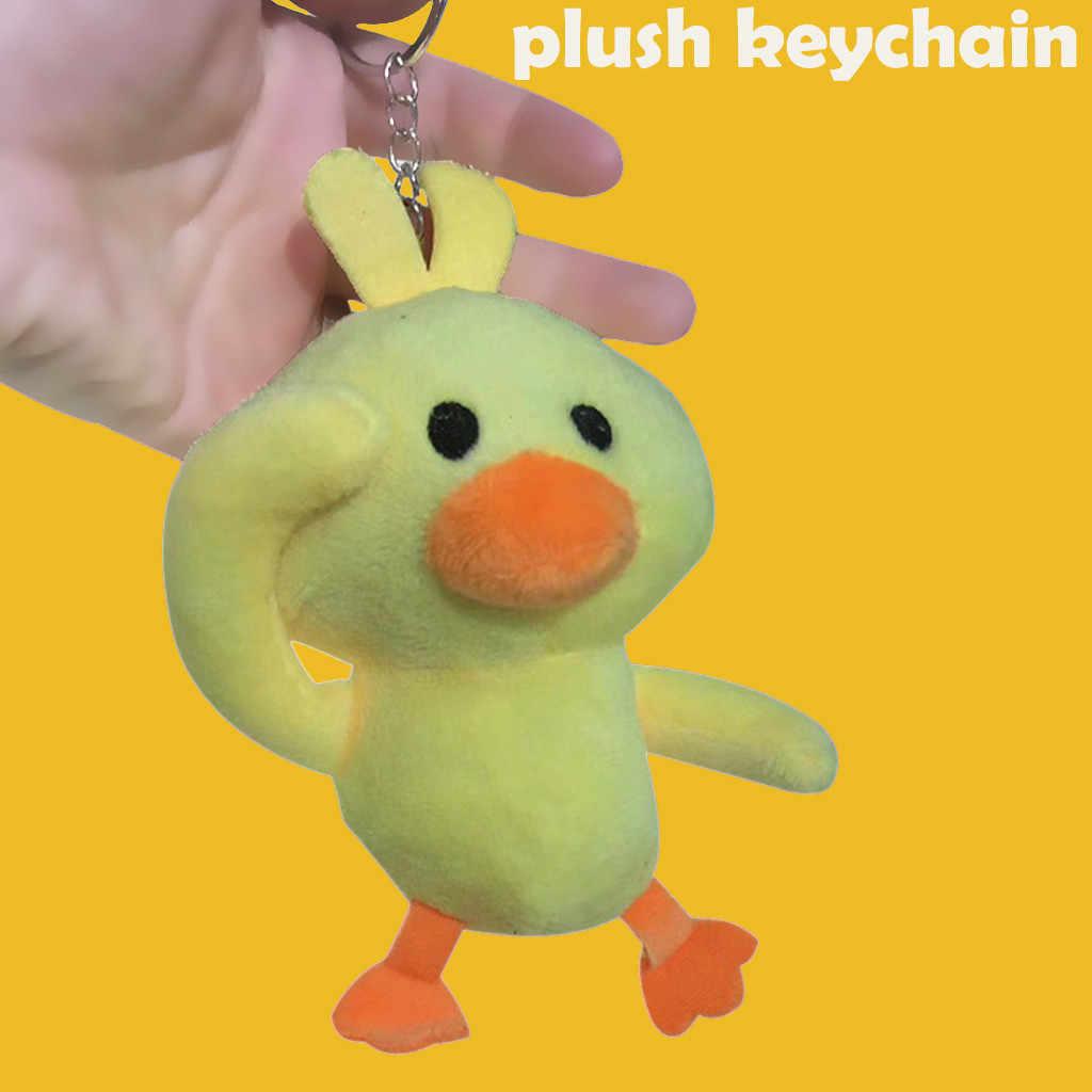 Brinquedos das crianças estranho pouco Pingente Cute Little Yellow Duck Plush Toys Engraçados Macios Bonecos De Pelúcia # K13