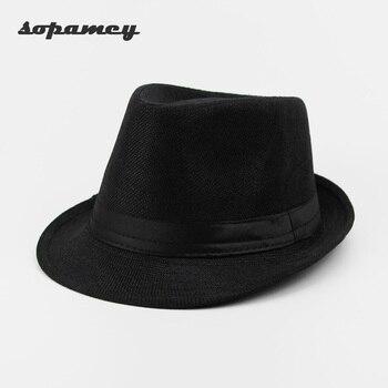 Casual Panamá Sombreros paja hombres playa verano moda sombreros para las mujeres  gorras Trilby gángster Cap Jazz sombreros visera casquillo 2017 Nuevo 48cee4adcf2