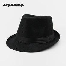Casual Panamá Sombreros paja hombres playa verano moda sombreros para las  mujeres gorras Trilby gángster Cap Jazz sombreros vise. 63dac5404882
