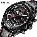 Мужские автоматические механические часы BOYZHE  роскошные брендовые светящиеся кожаные водонепроницаемые наручные часы  Relogio Masculino