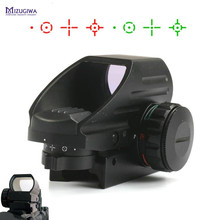 MIZUGIWA Vert Red Dot Sight Portée Chasse Optique 1x22x33 Portée 4 Reflex Sight Airsoft Weaver 20mm Montage AK Pistolet À Air Comprimé Fusil