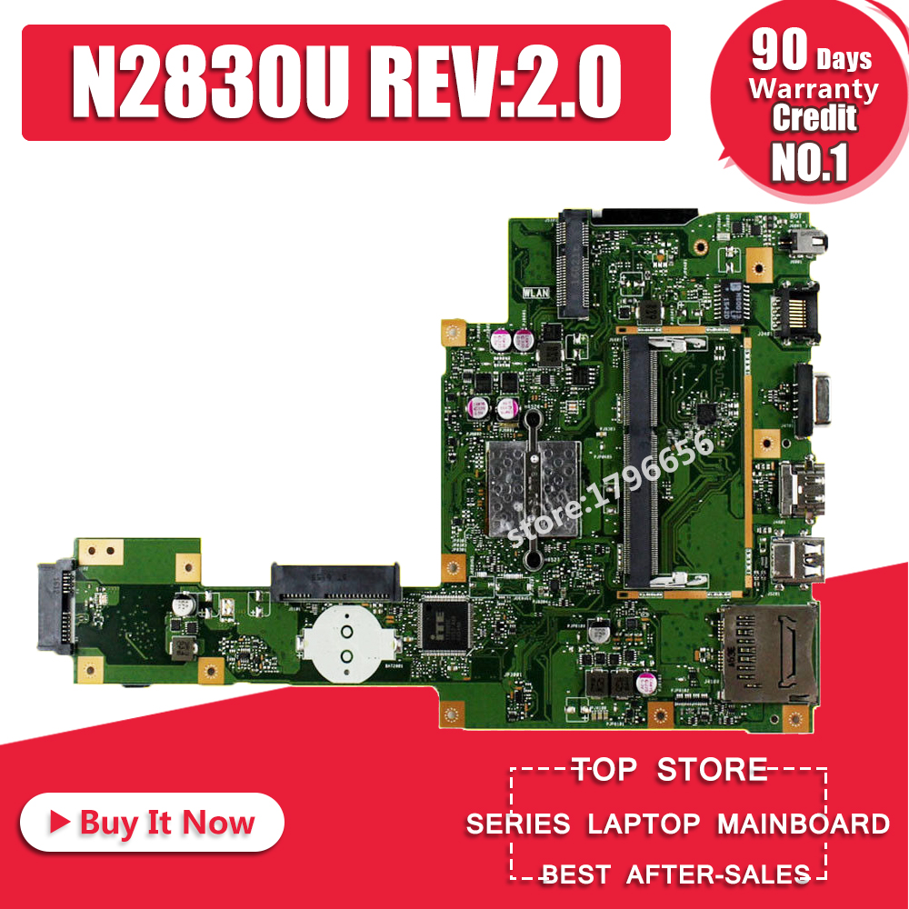 NEW X553MA Motherboard N2830U REV2.0 FOR ASUS X503M F553MA F553M X553MA Laptop Mainboard X553M X553MA Motherboard 100% Test OK