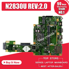 цена на X553MA F553 F553MA X503M motherboard for Asus with N2830 CPU Integrated 60NB04X0-MB1800 REV2.0 full test free shipping