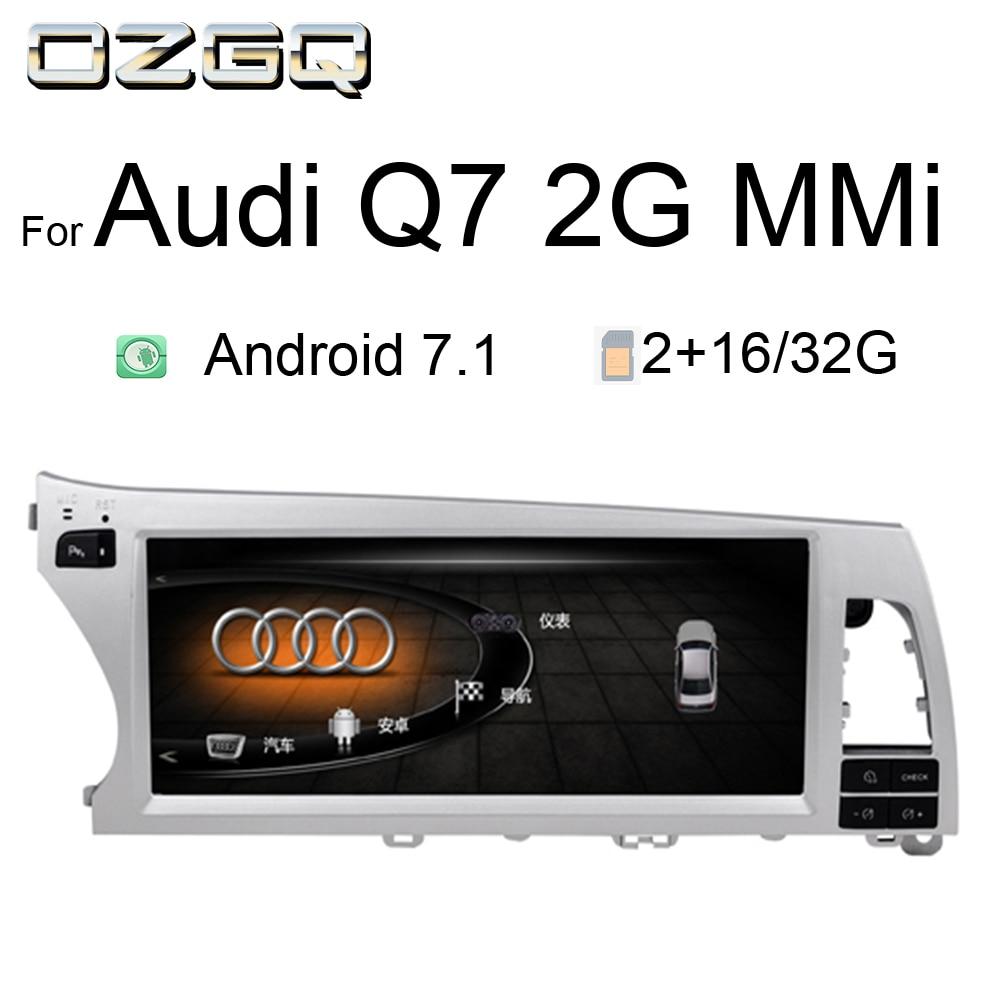 OZGQ Android 7.1 moniteur 10.25 pouces voiture lecteur multimédia pour 2005-2013 Audi Q7 avec 2G système MMi GPS Navigation voiture stéréo