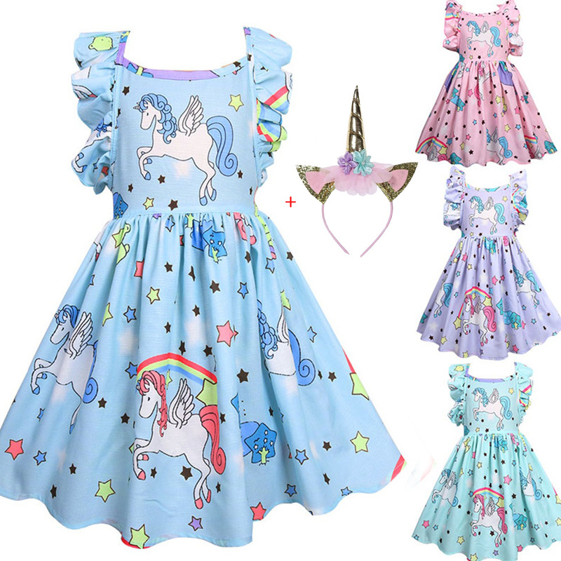 Kids Birthday Party Dress Toddler Kids Baby Girls Unicorn Party Pageant Formal Tutu Dress Princess Sundress cosplay ClothesKids Birthday Party Dress Toddler Kids Baby Girls Unicorn Party Pageant Formal Tutu Dress Princess Sundress cosplay Clothes