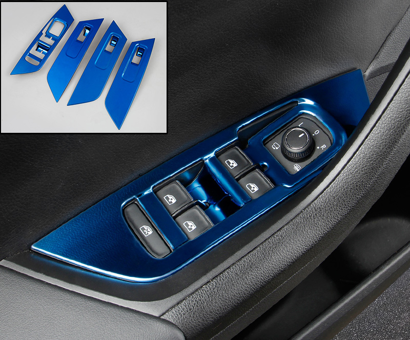 4pc for SKODA KODIAQ Glass lifting control switch panel protect Decorative frame