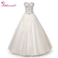 Alexzendra Beaded Bodice Champagne Ball Gown Quinceanera Dresses Girl's Sweetheart Party Dresses