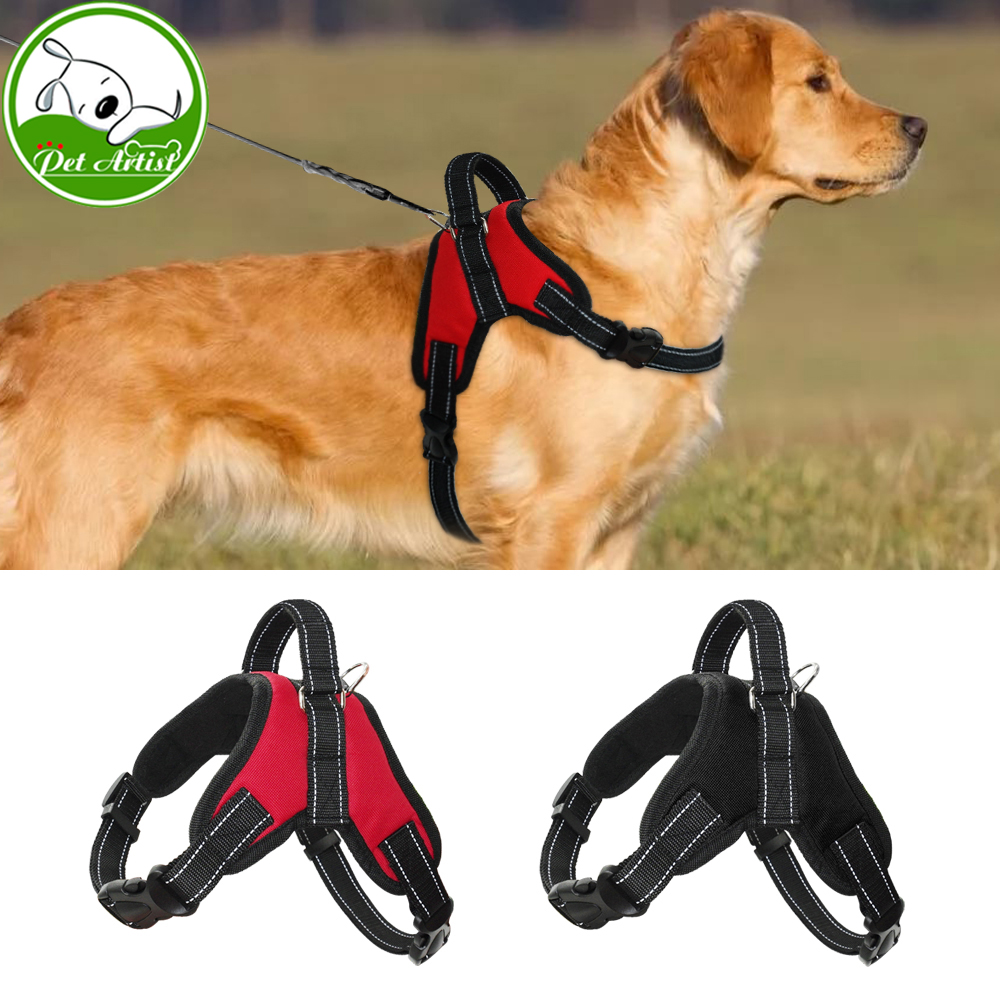 Adjustable Nylon Pet Dog Harness Vest Reflective Mesh ...