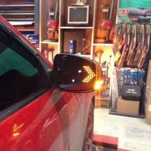 forMazda M3 M6 13 new M6 LED lights view anti glare rearview mirror blue mirror reflection lens