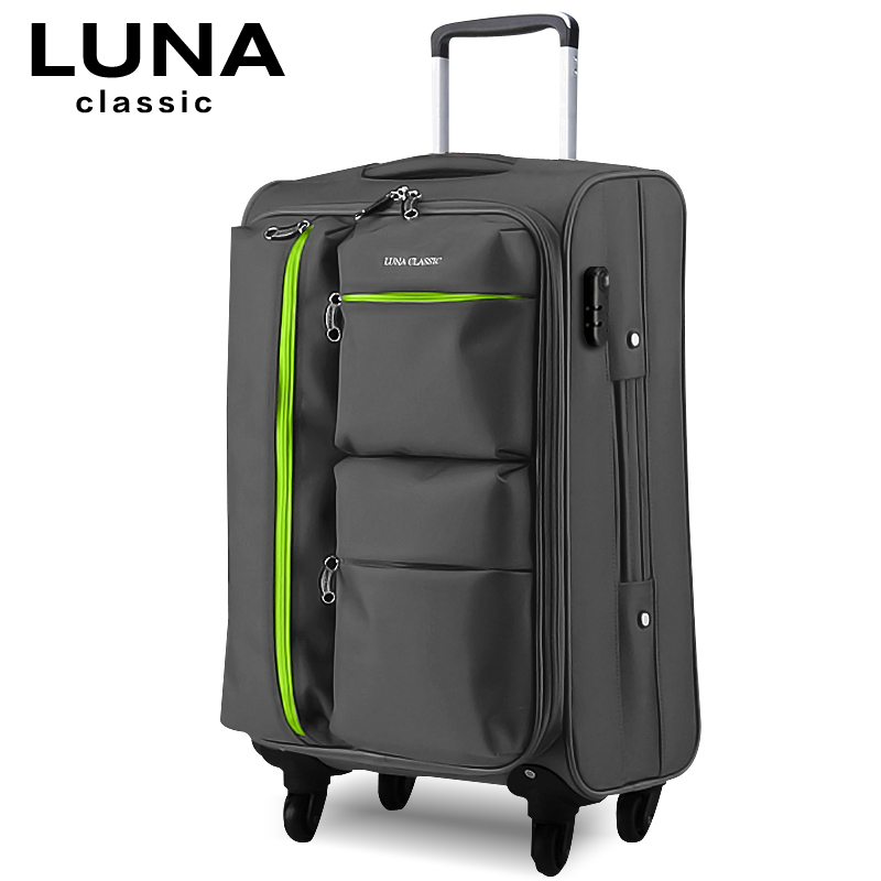 Universal wheels trolley luggage travel bag soft box luggage bag 20 22 24 26 28 luggage,high quality waterproof trolley luggage