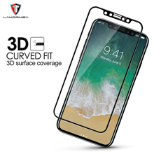 Lamorniea 3D Hard Tempered Glass For Apple iPhone X Screen Protector Full Cover For iPhone 10 X Toughened Protective Glass Film protective glass red line for iphone x full screen 3d black