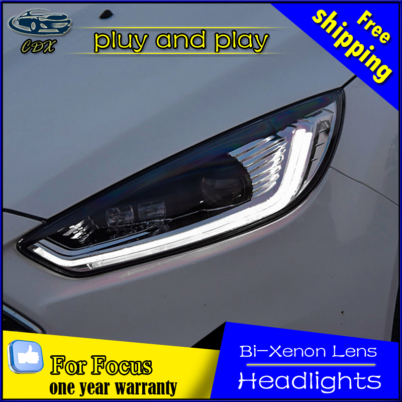 Car Styling Head Lamp Case For Ford Focus 3 2017 Headlights Led Headlight Drl Lens Double Beam Bi Xenon Hid Accessories In Light Embly From