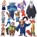 Zootopia Zootopia Figura de Acción de Juguete Muñeca 4-8 cm PVC Figure Juguetes Conejo Judy Cp Nick Fox Cartoon Brinquedos, 12 unids/lote