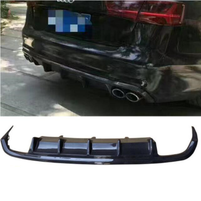 A6 C7 Real Carbon Fiber Car <font><b>Rear</b></font> Bumper Spoiler Lip, Auto Car <font><b>Rear</b></font> <font><b>Diffuser</b></font> Lip For <font><b>Audi</b></font> A6 C7 2012 2013 2014 2015 image