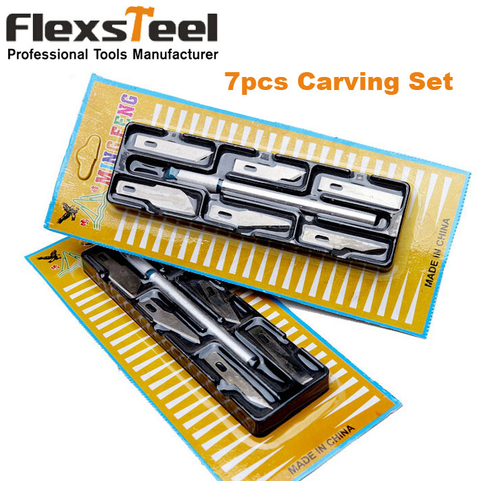 DIY Craft Tools 6PCS Wood Carving Chisel Kit Hobby Knives for Carving Precision Knife Set Engraving Tools for iphone cellphone