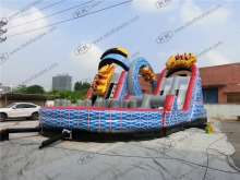 roller coaster inflatable obstacle jumping slide inflatable bounce inflatable slide