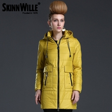 SKINNWILLE2016 Spring Women coat New Collection Medium Length Warm jacket Windbreaker Winter Cotton parka thin cotton jacket