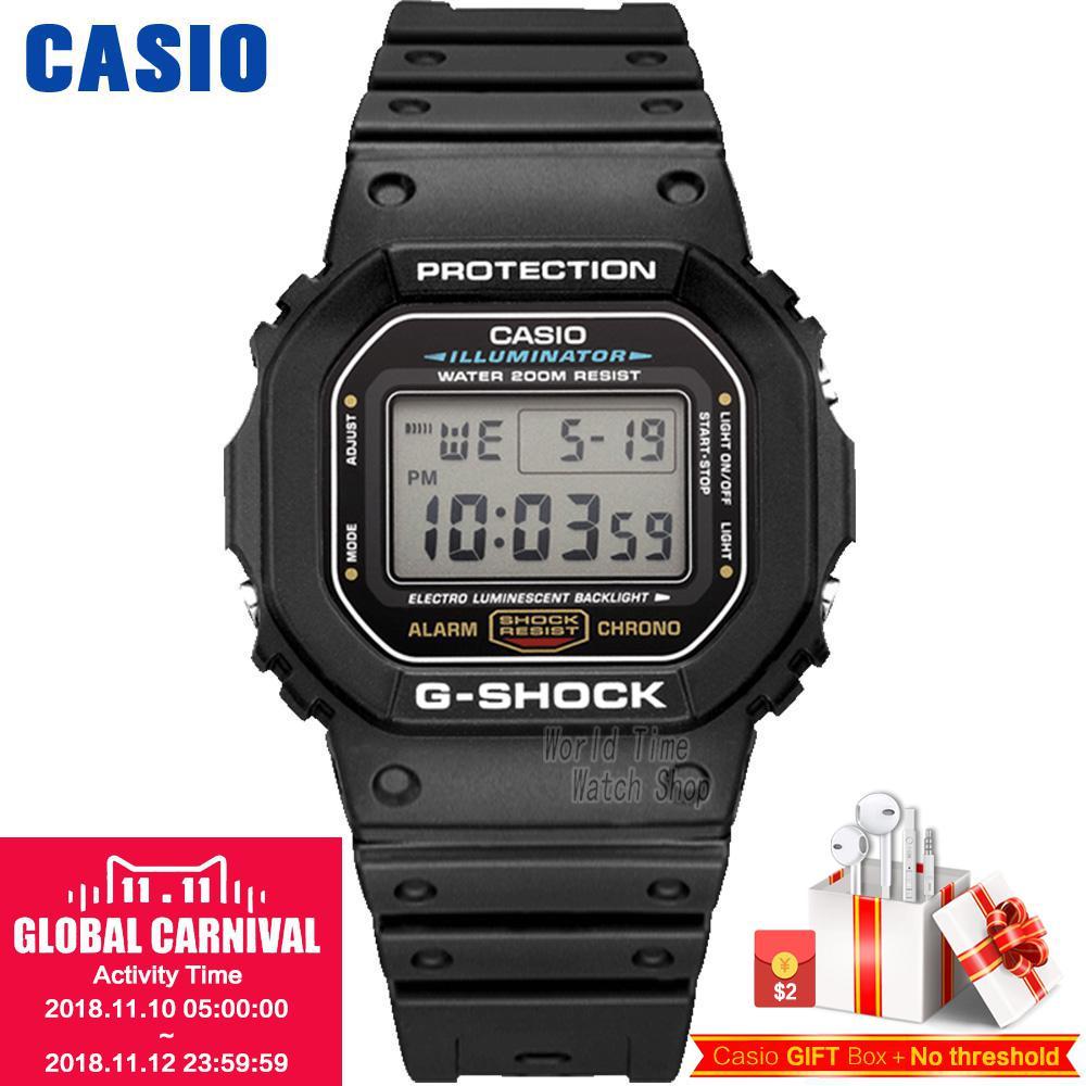 Casio watch Fashion sports waterproof men's watches DW-5600E-1V DW-5600HR-1 casio outgear sgw 100 1v