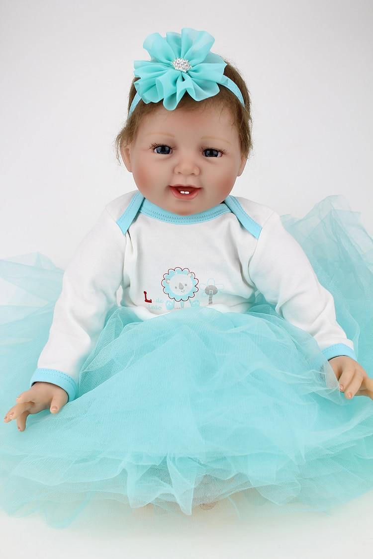 55cm Doll Silicone Reborn Lifelike Simulation Handmade Realistic Baby Girls Princess  Dolls Vinyl Bebe Reborn Babies Toys Boenca
