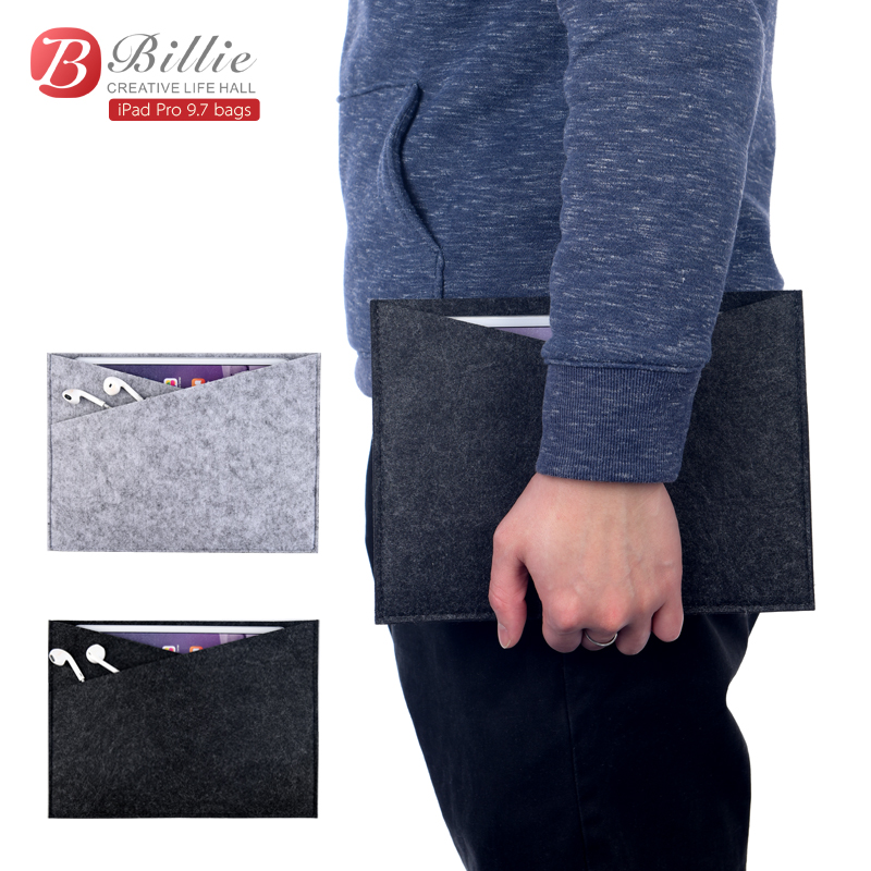 For ipad 9.7case Wool Felt Laptop Sleeve for pro 9.7 inch tablet cover with pouch bag for ipad air 2 Tablet PC Fashion Wool Felt notebook sleeve protector for mac book 13 for macbook air pro 13 laptop sleeve carry bag case pro waterproof cover