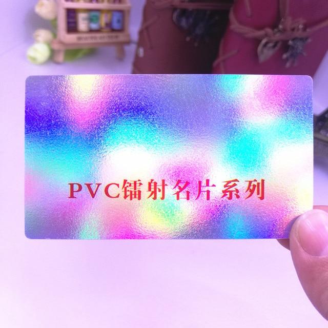 Holographique Pvc Argent En Plastique Carte 038mm Couleur Double Face Impression De Bonne Qualit