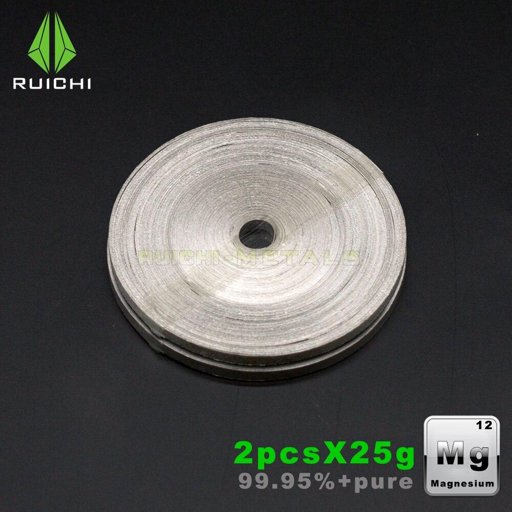 25gx2pcs Magnesium Metal 99.95% Purity Chemicals Magnesium Belt25gx2pcs Magnesium Metal 99.95% Purity Chemicals Magnesium Belt