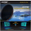Zomei HD CPL Ultra Slim 18 Layer Super Multi-Coated Optical Glass PRO Circular Polarizing Polarizer Lens Filter 40.5 52 77 82mm