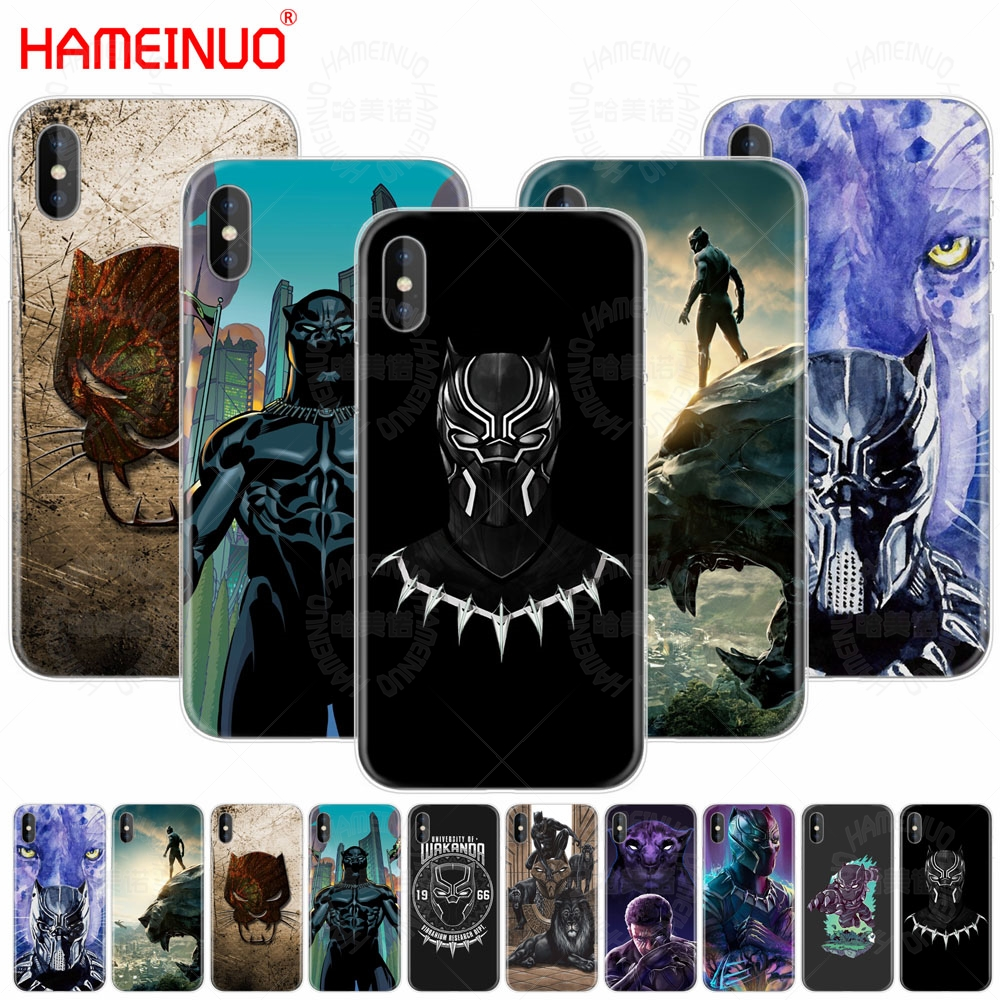 the best attitude 079a9 59381 HAMEINUO Marvel Comics Black Panther cell phone Cover case for iphone X 8 7  6 4 4s 5 5s SE 5c 6s plus-in Half-wrapped Case from Cellphones & ...