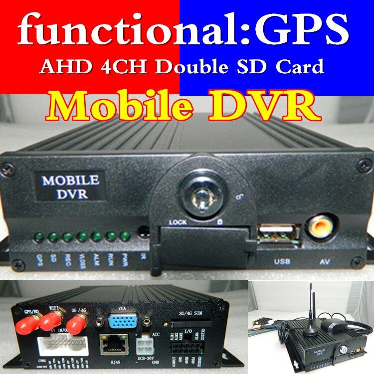 Hôte de surveillance de véhicule gps mdvr AHD HD 720 P prend en charge plusieurs langues 4CH source vidéo de voiture MDVR usine