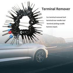 38Pcs Automotive Terminal Plug Remover Tool Set Kit Extractor Chave Pin Friso Conector do Fio Elétrico Carro Acessórios