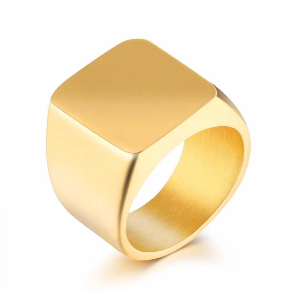 Extreem Rvs Ring Dikte Mode mannen Grote Ring Bruiloft Verlovingsringen  &GL54