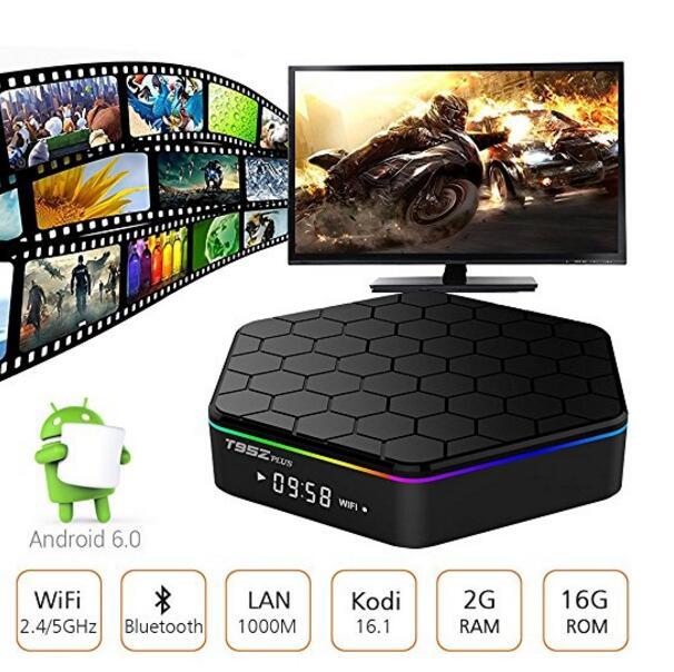 T95Z Plus 20pcs 2g 16g/3g 32g t95z+ Amlogic S912 2G 16G tv box Octa-core cortex-A53 Android6.0 media player стоимость