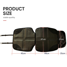 Luxury Leather Child Car Seat Protector, Baby Auto Seat Anti-slip Mat With Two Storage Pockets