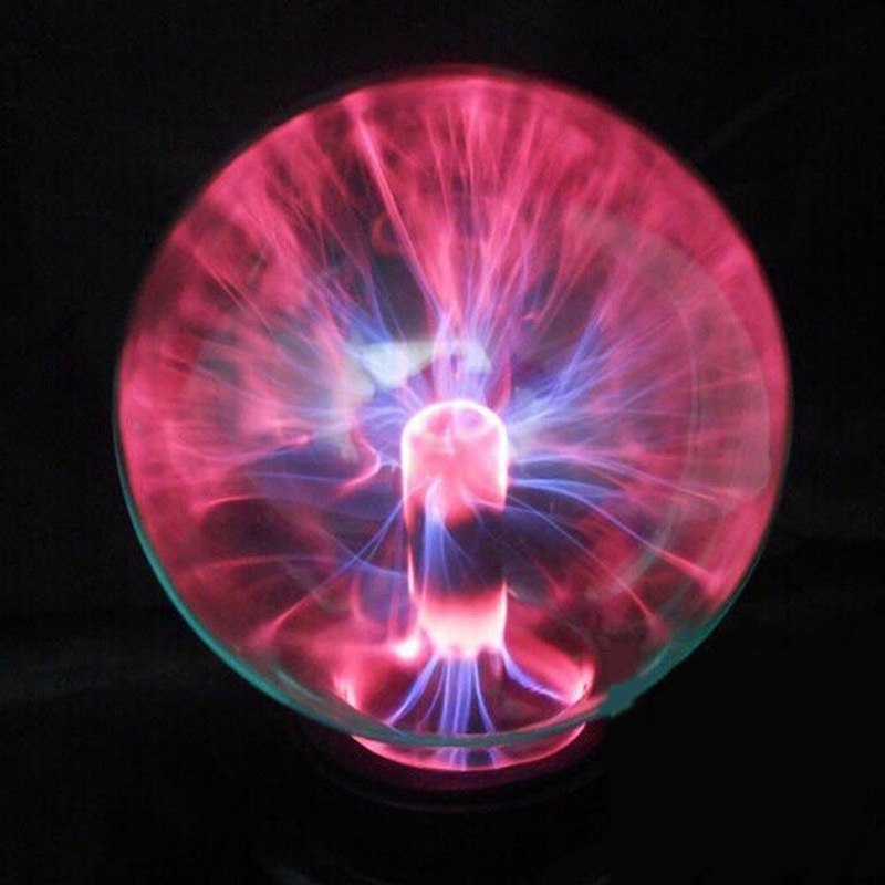 3/4/5/6/8 Inch Crystal Plasma Ball Night Light Magic Glass Sphere Novelty Lightning Ball Light Plasma Table Lamp