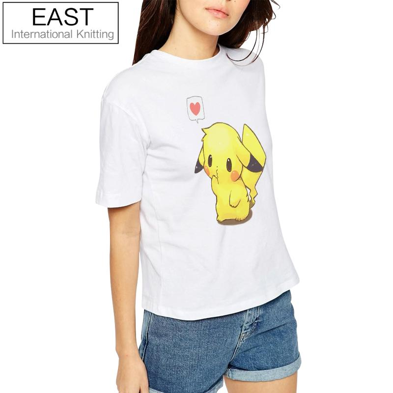 Nuovo Pokemon Go Funny T-shirt Pikachu con cuore Harajuku Women Tshirt Estate Casual Top Tops Coppie Tees