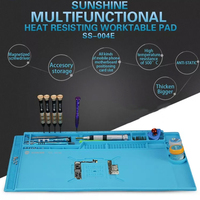 SS 004E multi function High temperature resistance Insulation Silicone Pad Desk Mat Maintenance Platform With Magnetic