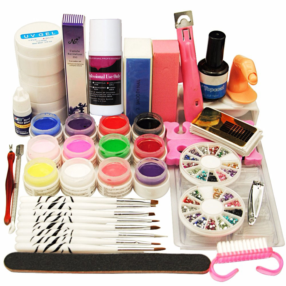 Best Gel Nails Set: Pro Full 12 Pcs Solid UV Gel Nail Polish Kit Set Nail